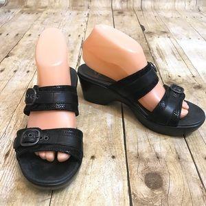 Dansko Black Sandals Size Slip On Size 38